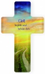 Kommunionkreuz Gott begleite und behüte dich 14 cm Acrylglas Glaskreuz