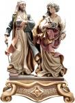 Heiliger Kosmas und Damian (Gruppe) Holzfigur geschnitzt Südtirol Schutzpatron