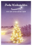 Postkarte Frohe Weihnachten gutes neues Jahr (10 Stck) Tannenbaum Adressfeld