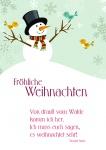 Postkarte Fröhliche Weihnachten (10 Stck) Theodor Storm Weihnachtskarte