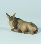 Tiroler Krippe Esel liegend bunt bemalt 12 cm Krippen Figur Weihnachten