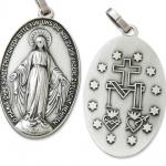 Wunderbare Wundertätige Medaille silber 3, 7 cm zur Verehrung der Mutter Gottes