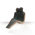 Bronzefigur Paar sitzend 10 cm Skulptur