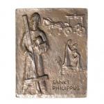 Namenstag Philippus, Philipp Bronze 13 x 10 cm