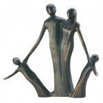 Bronzefigur Due Piccolini 13 cm Skulptur Kerstin Stark Familie Figur Regalfigur