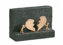 Bronzefigur Neuanfang 14 x 20 cm Figur Kerstin Stark Bronze Skulptur Liebe