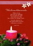 Postkarte Weihnachtswunder (10 Stck) Kerze Irmgard Erath Weihnachtskarte