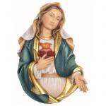 Herz Maria Brustbild Holzfigur geschnitzt Südtirol Maria Mutter Gottes Figur