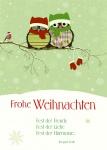 Postkarte Frohe Weihnachten (10 Stck) Irmgard Erath Weihnachtskarte Adressfeld