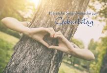 Geburtstagskarte Herzliche Segenswünsche (6 Stck) Glückwunschkarte Kuvert