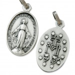Wunderbare Wundertätige Medaille silberfarben 1, 9 cm Religiöser Schmuck