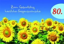 Geburtstagskarte 80. Geburtstag Psalm (6 Stck) Glückwunschkarte Kuvert