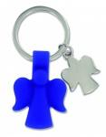 Schlüsselanhänger 2 Schutzengel blau