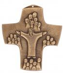 Wandkreuz Bronze Schmuckkreuz Erstkommunion Kreuz 9 x 10, 5 cm Jürgen Peters NEU