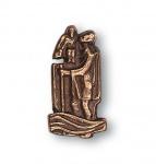 Christophorus Autoplakette selbstklebend 4 cm Bronze Christophorus Plakette