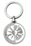 Schlüsselanhänger Luther-Rose weiß 7 cm