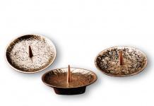 Kerzenständer Set 3-tlg. 12 cm Bronze Kerzenhalter