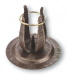 Kerzenständer Schmiedeeisen, bronziert - 10 cm Metall