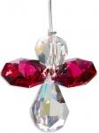 Schutzengel Swarovski-Elements Bordeaux 3 cm Stahldraht Schutzengel Geschenke