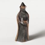 König, stehend, mit flachem Hut 9 cm Bronze