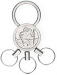 Schlüsselanhänger Christophorus mit 3 abnehmbaren Ringen Christopherus