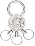 Schlüsselanhänger Christophorus mit 3 abnehmbaren Ringen