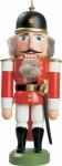 Nussknacker Soldat rot 27 cm Holz-Figur Handarbeit aus Seiffen im Erzgebirge