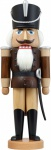 Nussknacker Husar Esche lasiert braun 37 cm Holz-Figur Handarbeit Erzgebirge