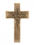 Wandkreuz Ornament Kreuz Bronze 11 x 6, 5 cm Handarbeit Andrea Zrenner Expertise
