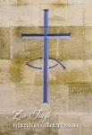 Glückwunschkarte Zur Taufe herzliche Glückwünsche (6 St) Kreuz und Fisch