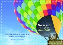 Postkarte Geburtstag Hoch sollst du leben (10 Stck) Glückwunschkarte