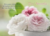 Postkarte Zum Namenstag (10 St) Rosen Hans Thoma Grußkarte