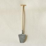 Spaten, klein, handgefertigt 13 cm, Krippenzubehör