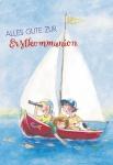 Glückwunschkarte Alles Gute zur Erstkommunion (6 St) Kinder im Segelboot