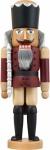 Nussknacker König Esche lasiert aubergine 39 cm Holz-Figur Handarbeit Erzgebirge
