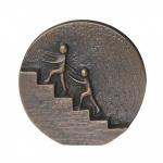 Wandrelief Gemeinsam nach oben 8 cm Bronze Wandbild Deko