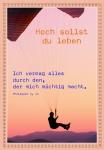 Geburtstagskarte Hoch sollst du leben (6 Stck) Glückwunschkarte Kuvert