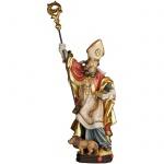 Heiliger Ignatius mit Löwe Holzfigur geschnitzt Südtirol Schutzpatron Bischof