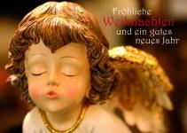 Weihnachtskarte Fröhliche Weihnachten Neujahrsgruß (10 St) Postkarte Adressfeld