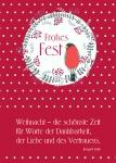 Postkarte Frohes Fest (10 Stck) Irmgard Erath Weihnachtskarte Adressfeld