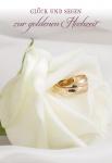 Glückwunschkarte Glück und Segen zur goldenen Hochzeit (6 St) Eheringe Korinther