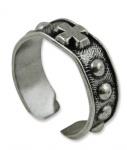 Gebetsring Metall breit offener Ring 2 cm Rosenkranz Schmuck Finger