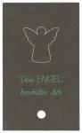 Schieferrelief Dein Engel beschütze dich Holzstab zum Aufstellen 10 cm