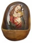 Weihwasserkessel Maria mit Jesu Kind handbemalt 12 cm Mutter Gottes Weihbecken