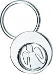 Schlüsselanhänger Engel mit Einkaufswagen Chip Geschenkverpackung 6 x 3, 5 cm