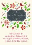 Postkarte Frohe Weihnachten (10 Stck) Nicole Weidner Weihnachtskarte Adressfeld