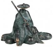Bronzeskulptur Sitzender Schäfer 14 cm Bronze Figur