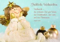 Postkarte Fröhliche Weihnachten (10 Stck) Irmgard Erath Engel Adressfeld