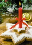 Postkarte Frohe Weihnachten Gutes Neues Jahr (10 Stck) Kerze Weihnachtskarte