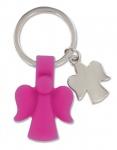 Schlüsselanhänger 2 Schutzengel pink Engel Anhänger